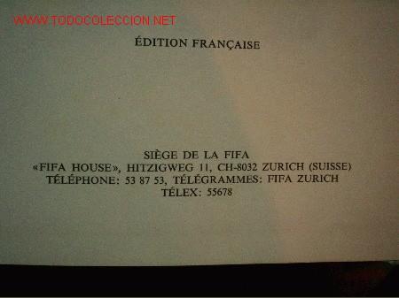 Coleccionismo deportivo: FIFA sobre la Federacion 1975-1976 escrito en Frances y en Español.Editado en Suiza - Foto 4 - 26863461
