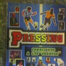 Coleccionismo deportivo: PRESSING (MARADONA, KEMPES, VILAS Y OTROS), POR SERGIO VANGELISTA - ARGENTINA - 1993 - REGALADO!!. Lote 27482488