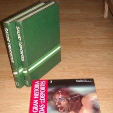 Coleccionismo deportivo: LOTE DE 3 LIBROS DE DEPORTES (FÚTBOL, ATLETISMO, AUTOMOVILISMO Y OLIMPIADA DE BARCELONA 1992). Lote 26885270