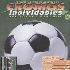 Collectionnisme sportif: FASCÍCULO DE FÚTBOL RESUMEN TEMPORADA 1975/76 - OFERTAS DOCABO. Lote 19707884