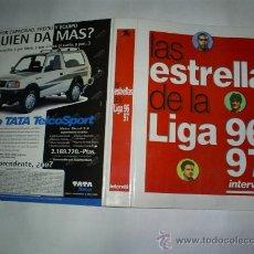 Coleccionismo deportivo: LAS ESTRELLAS DE LA LIGA DE FUTBOL 96-97 INTERVIÚ / EDICIONES ZETA RM47281. Lote 23934642