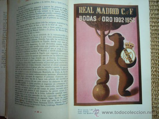LIBRO DE ORO DEL REAL MADRID C. DE F. 1902-1952. MUY ILUSTRADO (Coleccionismo Deportivo - Libros de Fútbol)