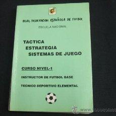 REAL FEDERACION ESPAÑOLA DE FUTBOL - TACTICA - ESTRATEGIA - SISTEMAS DE JUEGO -