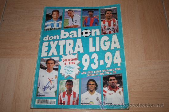 EXTRA LIGA DON BALÓN TEMPORADA 93-94 (Coleccionismo Deportivo - Libros de Fútbol)