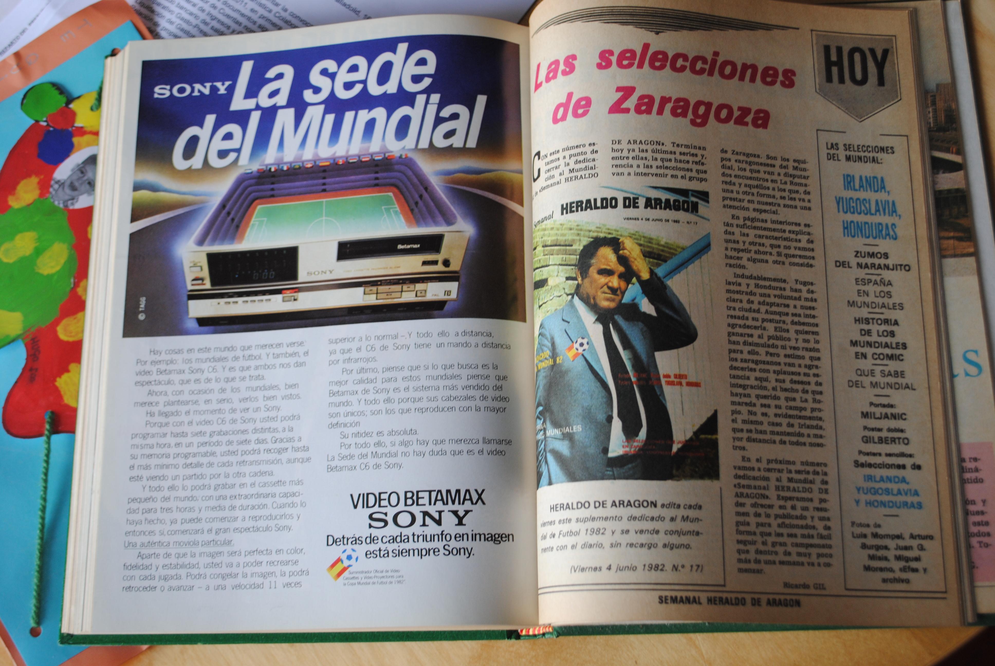 Coleccionismo deportivo: CAMPEONATO MUNDIAL DE FUTBOL 1982. HERALDO DE ARAGON. COMPLETO!!!!!!!!!! MUNDIAL 82 - Foto 7 - 27249749