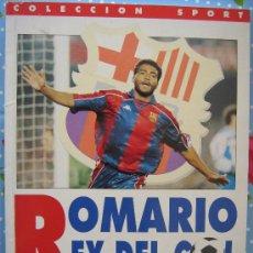 Coleccionismo deportivo: BARÇA FUTBOL CLUB CF BARCELONA FC LIBRO ROMARIO REY DEL GOL MIREN LAS FOTOS ES EL MISMO. Lote 26419482
