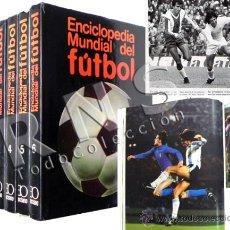Coleccionismo deportivo: ENCICLOPEDIA MUNDIAL DEL FÚTBOL HISTORIA DE MUNDIALES FUTBOLISTAS PARTIDOS DEPORTE LIBRO OCÉANO TOMO. Lote 27757482