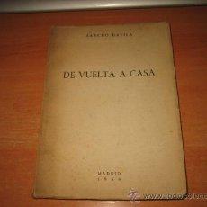 Coleccionismo deportivo: DE VUELTA A CASA POR SANCHO DAVILA PRESIDENTE DE LA REAL FEDERACION ESPAÑOLA DE FUTBOL MADRID 1954. Lote 28689692