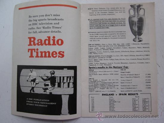 Coleccionismo deportivo: PROGRAMA OFICIAL FUTBOL - INGLATERRA ESPAÑA -AÑO 1968-WEMBLEY - EUROPEAN CHAMPIONSHIP, QUARTER FINAL - Foto 2 - 29331786
