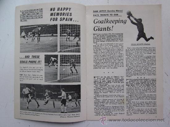 Coleccionismo deportivo: PROGRAMA OFICIAL FUTBOL - INGLATERRA ESPAÑA -AÑO 1968-WEMBLEY - EUROPEAN CHAMPIONSHIP, QUARTER FINAL - Foto 3 - 29331786