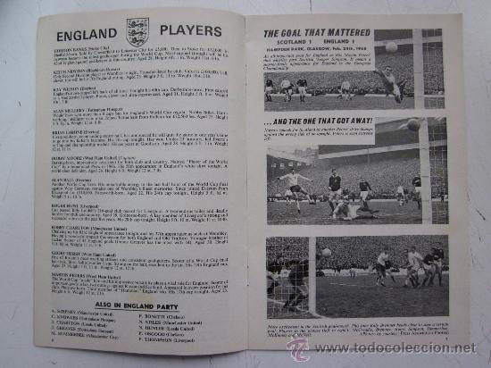 Coleccionismo deportivo: PROGRAMA OFICIAL FUTBOL - INGLATERRA ESPAÑA -AÑO 1968-WEMBLEY - EUROPEAN CHAMPIONSHIP, QUARTER FINAL - Foto 4 - 29331786