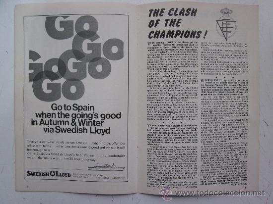 Coleccionismo deportivo: PROGRAMA OFICIAL FUTBOL - INGLATERRA ESPAÑA -AÑO 1968-WEMBLEY - EUROPEAN CHAMPIONSHIP, QUARTER FINAL - Foto 6 - 29331786