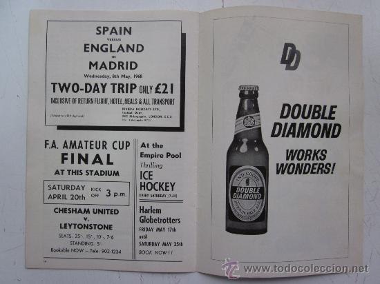 Coleccionismo deportivo: PROGRAMA OFICIAL FUTBOL - INGLATERRA ESPAÑA -AÑO 1968-WEMBLEY - EUROPEAN CHAMPIONSHIP, QUARTER FINAL - Foto 8 - 29331786