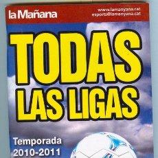 Coleccionismo deportivo: TODAS LAS LIGAS (2010 - 2011). Lote 29435217