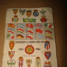 Coleccionismo deportivo: CALENDARIO ANUARIO DE FUTBOL DINAMICO TEMPORADA 1963 1964 .. Lote 32289652