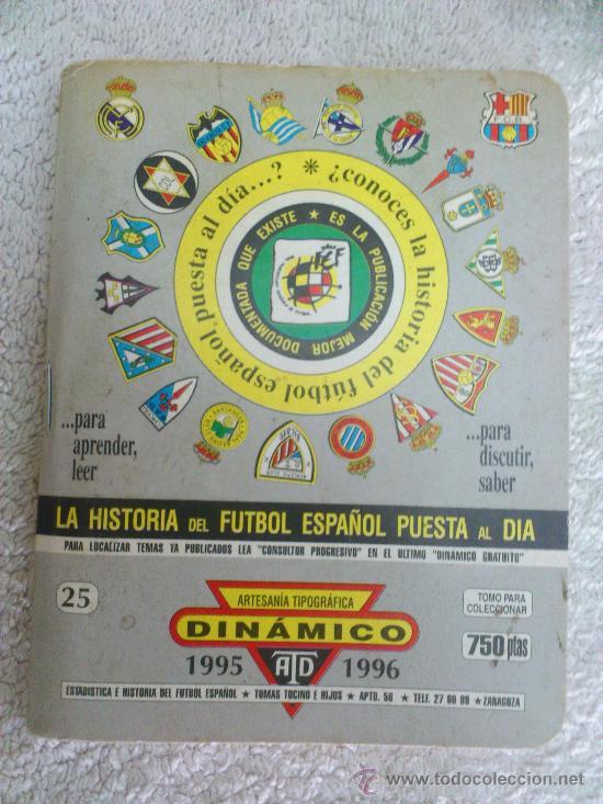 LIBRILLO DINAMICO FUTBOL. TOMO 25. TEMPORADA 1995-96 (Coleccionismo Deportivo - Libros de Fútbol)