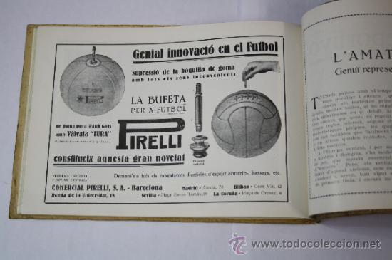 Coleccionismo deportivo: Antiguo Boletín Oficial del Fútbol Club / FC Barcelona, del Año 1922, con Publicidad Pirelli - Foto 7 - 33284052