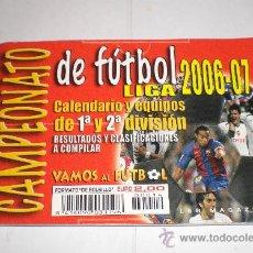 Coleccionismo deportivo: CALENDARIO Y EQUIPOS DE FUTBOL - LIGA 2006 - 2007. Lote 33322882