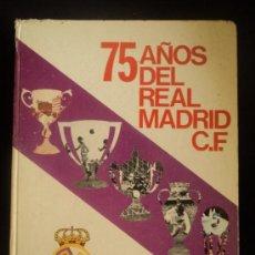 Coleccionismo deportivo: 75 AÑOS DEL REAL MADRID CF. 1902-1977 PRENSA ESPAÑOLA. 1977 320 PAG. Lote 33507932