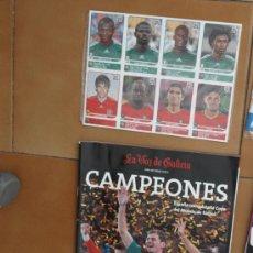 Coleccionismo deportivo: LIBRO ESPAÑA CAMPEONES MUNDO SUDAFRICA 2010 + SET 80 CROMOS COMPLETO EXTRA STICKERS SUDAFRICA 2010 . Lote 33712951