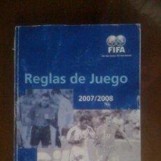 Coleccionismo deportivo: REGLAS DE JUEGO. 2007/2008. FIFA. Lote 33945253