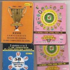 Coleccionismo deportivo: LOTE DE CALENDARIOS DINÁMICOS DE FÚTBOL. Lote 35741049