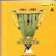 Coleccionismo deportivo: XXVII CAMPEONATOS RECOPAS DE EUROPA DE CAMPEONES DE COPA - APENDICE 17 A / DINÁMICO. Lote 37031324