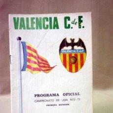 Coleccionismo deportivo: REVISTA, PROGRAMA OFICIAL, REAL OVIEDO, VALENCIA, CAMPEONATO DE LIGA 1972-73. Lote 37418336