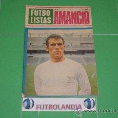 Coleccionismo deportivo: LIBRITO FUTBOLISTAS Nº2 AMANCIO DEL REAL MADRID. Lote 37640912