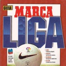 Coleccionismo deportivo: GUIA MARCA TEMPORADA DE LIGA DE FUTBOL 96-97 PRIMERA HOJA DAÑADA, RESTO PERFECTO. Lote 38224523