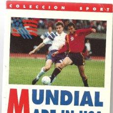 Collectionnisme sportif: MUNDIAL MADE IN USA, JOSE LUIS CARAZO Y SANTI DEL MORAL, COLECCON SPORT 1994. Lote 38766292
