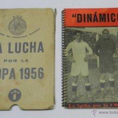 Coleccionismo deportivo: LA LUCHA POR LA COPA 1956 - FUTBOL - EDICIONES DEPORTIVAS DINÁMICO - EN LA PORTADA ZAMORA, CIRIACO, . Lote 39381794