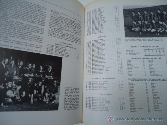 Coleccionismo deportivo: LIBRO HISTORIA del C.F. BARCELONA 1971 415 PÁGINAS FUTBOL BARÇA - Foto 8 - 39918707