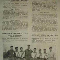 Coleccionismo deportivo: CLUB DEPORTIVO VIRGEN DE LA PALOMA MADRID.CON LOS NOMBRES DE LOS JUGADORES.AÑO 1958-59.1 HOJA. Lote 40640269