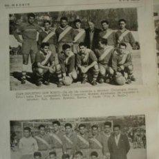 Coleccionismo deportivo: CLUB DEPORTIVO DON BOSCO MADRID.FUTBOL CON LOS NOMBRES DE LOS JUGADORES.AÑO 1958-59.1 HOJA. Lote 40640290