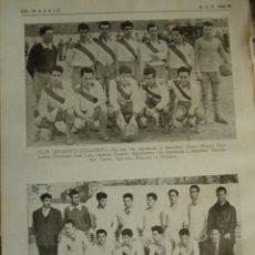 Coleccionismo deportivo: CLUB DEPORTIVO CARLOTEÑO Y ELIPA MADRID.FUTBOL CON LOS NOMBRES DE LOS JUGADORES.AÑO 1958-59.1 HOJA. Lote 40640293