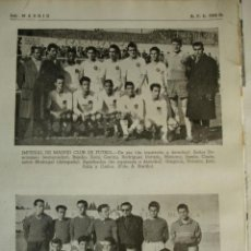 Coleccionismo deportivo: IMPERIAL DE MADRID Y SAN LORENZO DEL ESCORIAL .FUTBOL, NOMBRES DE LOS JUGADORES.AÑO 1958-59.1 HOJA. Lote 40640305