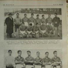 Coleccionismo deportivo: CLUB DEPORTIVO FUENCARRAL Y PICOS DE EUROPA.MADRID.FUTBOL,NOMBRES DE JUGADORES.AÑO 1958-59.1 HOJA. Lote 40640310