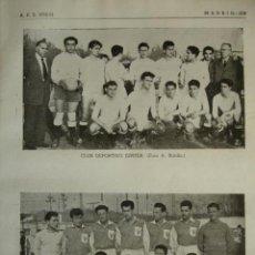 Coleccionismo deportivo: JUPITER Y POZUELO CLUB DE FUTBOL.MADRID.FUTBOL,NOMBRES DE JUGADORES.AÑO 1958-59.1 HOJA. Lote 40640340