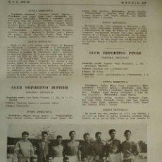 Coleccionismo deportivo: HENARES CLUB DE FUTBOL.MADRID.FUTBOL,NOMBRES DE JUGADORES.AÑO 1958-59.1 HOJA. Lote 40640347