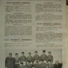 Coleccionismo deportivo: CLUB DEPORTIVO PARDIÑAS .MADRID.FUTBOL,NOMBRES DE JUGADORES.AÑO 1958-59.1 HOJA. Lote 40640350
