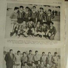 Coleccionismo deportivo: CLUB DE FUTBOL RAPIDO Y ARENAS DE TETUAN .MADRID.FUTBOL,NOMBRES DE JUGADORES.AÑO 1958-59.1 HOJA. Lote 40640360