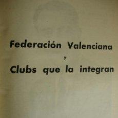 Coleccionismo deportivo: FEDERACION VALENCIANA DE FUTBOL Y CLUBS QUE LA INTEGRAN AÑO 1950.PG 1109-1140. FOTOS.VALENCIA. Lote 40920003
