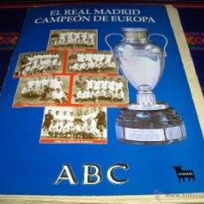 Coleccionismo deportivo: EL REAL MADRID CAMPEÓN DE EUROPA COMPLETO 37 ENTREGAS Y TAPAS. DIARIO ABC.1998.. Lote 41804430