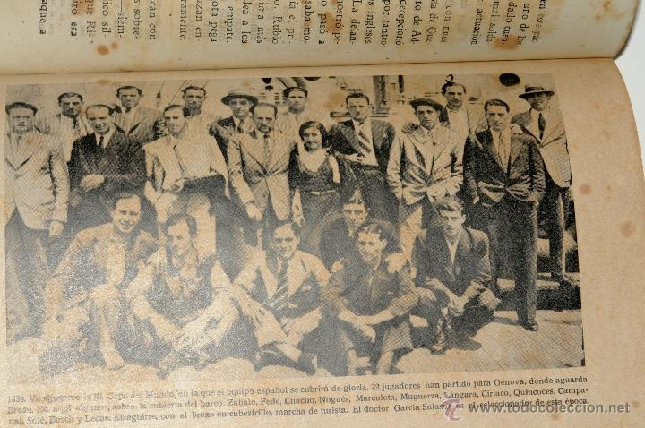 Coleccionismo deportivo: LOS 60 PARTIDOS DE LA SELECCION ESPAÑOLA DE FUTBOL POR FIELPEÑA EDICIONES ALONSO, AÑO 1941 - Foto 4 - 42329276