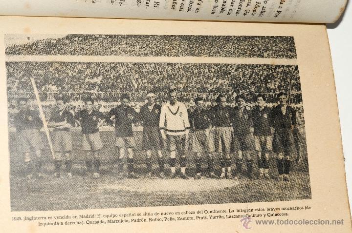 Coleccionismo deportivo: LOS 60 PARTIDOS DE LA SELECCION ESPAÑOLA DE FUTBOL POR FIELPEÑA EDICIONES ALONSO, AÑO 1941 - Foto 5 - 42329276
