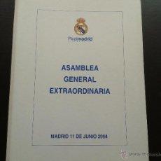 Coleccionismo deportivo: COLD - CARPETA ASAMBLEA GENERAL EXTRAORDINARIA MADRID 11 DE JUNIO 2004. Lote 43233304