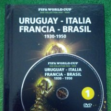 Coleccionismo deportivo: LIBRO Y CD MUNDIAL FUTBOL URUGUAY ITALIA FRANCIA BRASIL 1930-1950 CRUYFF. Lote 43367320