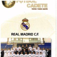 Coleccionismo deportivo: PROGRAMA FUTBOL TORNEO CASABLANCA 2010 REAL MADRID REAL SOCIEDAD. Lote 43428000