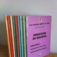 Coleccionismo deportivo: CURSO NIVEL - 1º. DIRECCIÓN DE EQUIPOS. REAL FEDERACIÓN ESPAÑOLA DE FÚTBOL . FÚTBOL SALA. 9 TOMOS.. Lote 43778695